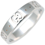 GUCCI-ICON-Ring-K18-WG-750-White-Gold-US7-7.5-HK16-EU55