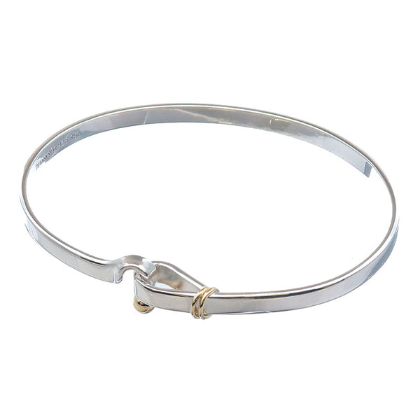 Tiffany&Co.-Hook-and-Eye-Bangle-Silver-925-Yellow-Gold