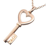 Tiffany&Co.-Heart-Key-Mini-Necklace-K18-750-Rose-Gold