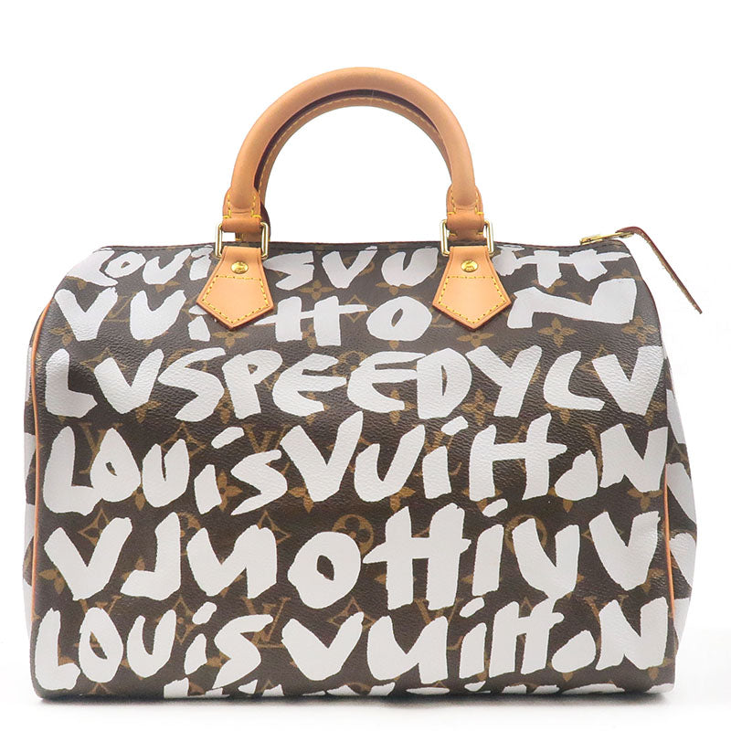 Louis-Vuitton-Monogram-Graffiti-Speedy-30-Boston-Bag-M92195