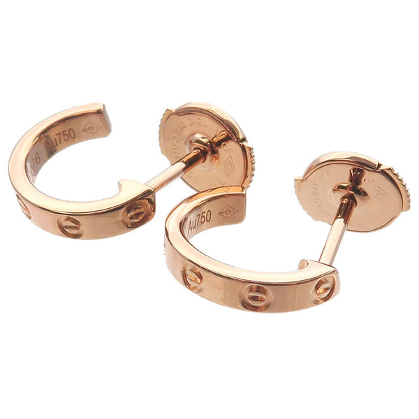 Cartier-Mini-Love-Earrings-K18-PG-750-Rose-Gold