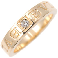 BVLGARI Double Logo Ring 1P Diamond K18 Yellow Gold US5.5 EU51-dct-ep_vintage luxury Store
