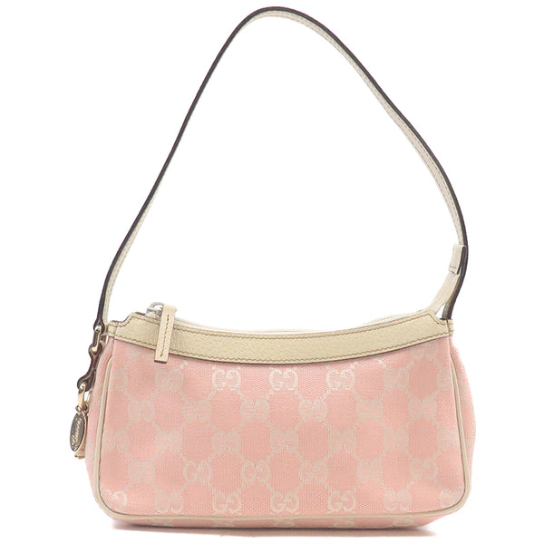 GUCCI GG Canvas Leather Shoulder Purse Pouch Pink 154432-dct-ep_vintage luxury Store