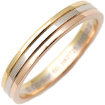 Cartier-Three-Color-Ring-K18-750-YG/WG/PG-#60-US9-9.5-EU60