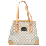 Authentic Louis Vuitton Damier Azur Hampstead MM Hand Bag N51206