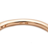 4℃ Half Eternity Diamond Ring K18 Rose Gold US5-5.5 EU50