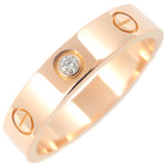 Cartier Mini Love Ring 1P Diamond Rose Gold #53 US6.5 EU53.5