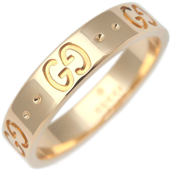 GUCCI-ICON-Ring-K18-YG-750-Yellow-Gold-#13-US6-6.5-HK14-EU53