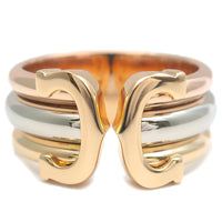 Cartier 2C Ring LM Three Color K18 YG/WG/PG #53 US6.5-7