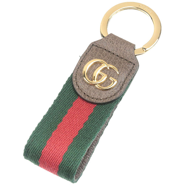 GUCCI-Ophidia-Key-Chain-Double-G-Web-Stripe-Key-Ring-523161