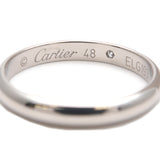 Cartier Classic Wedding Ring 1P Diamond Platinum #48 US5 EU49