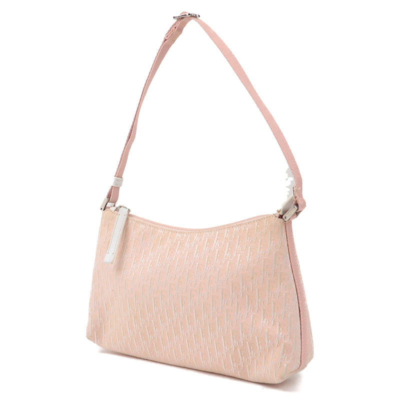 Christian Dior Trotter Canvas Leather Shoulder Bag Pink-dct-ep_vintage luxury Store