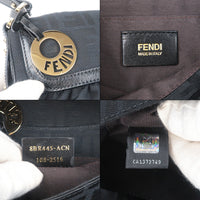 FENDI Zucca Print Canvas Leather Shoulder Bag Black 8BR445-dct-ep_vintage luxury Store