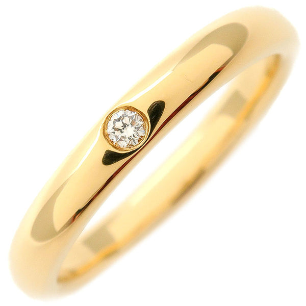 Tiffany&Co.-Stacking-Band-Ring-1P-Diamond-K18-Yellow-Gold-US5