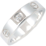 Cartier Mini Love Ring 1P Diamond White Gold #48 US4.5