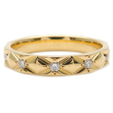 CHANEL Matelasse Ring 10P Diamond Yellow Gold #54 US6.5-7 EU54