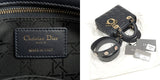 Christian Dior Cannage My Lady 2Way Bag Dark Navy M05320CAL