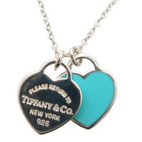 Tiffany&Co. Return to Tiffany Mini Double Heart Tag Necklace SV925