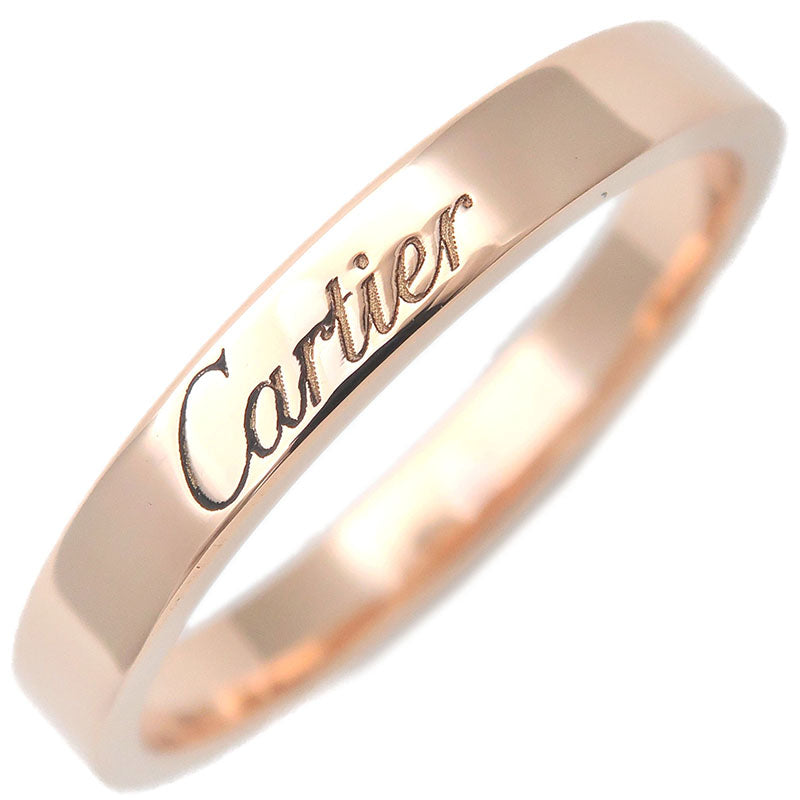Cartier-Engraved-Ring-K18-750-Rose-Gold-#56-US7.5-8-HK17-EU56