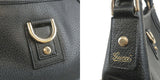 GUCCI Abbey Line Leather Shoulder Bag Black 130989