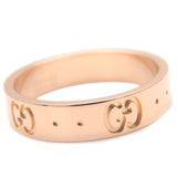GUCCI ICON Ring K18 PG 750 Rose Gold #9 US4.5-5 EU49