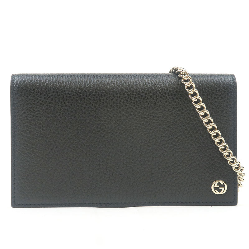 GUCCI-Leather-Chain-Wallet-Black-466506