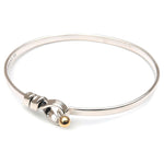 Tiffany&Co.-Flat-Wire-Bangle-Silver-925-Yellow-Gold