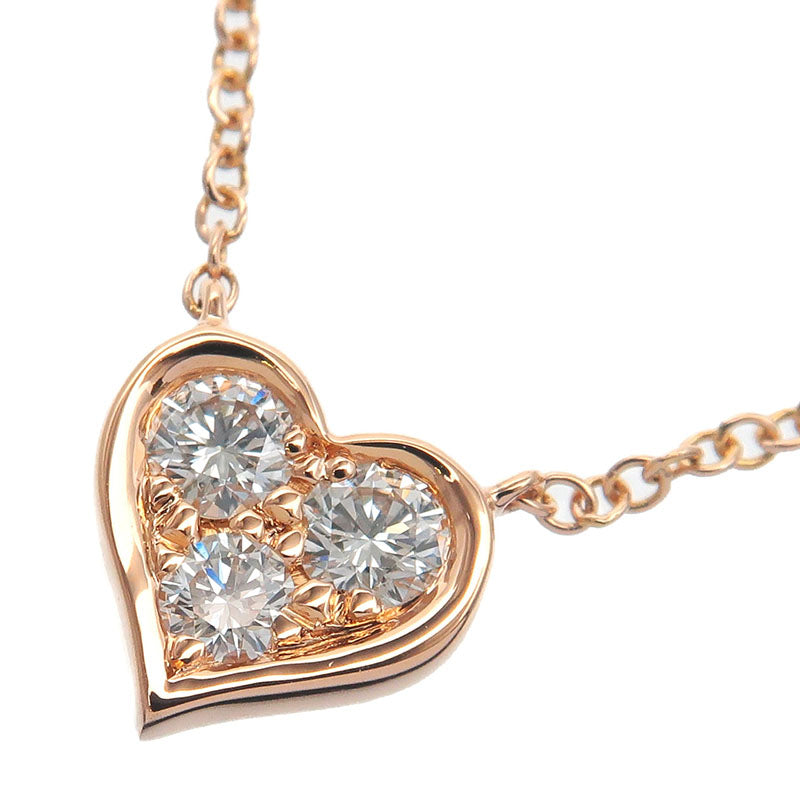 Tiffany&Co.-Sentimental-Heart-3P-Diamond-Necklace-Rose-Gold