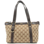 GUCCI-GG-Canvas-Leather-Tote-Bag-Beige-Brown-141471