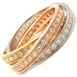 Cartier-Trinity-Ring-Full-Diamond-K18-YG/WG/PG-#62-US9-9.5