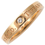Tiffany&Co. Flat Band 3P Diamond Ring K18PG Rose Gold