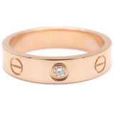Cartier Mini Love Ring 1P Diamond K18 Rose Gold #49 US5 EU49.5-dct-ep_vintage luxury Store