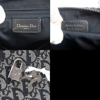 Christian Dior Trotter Canvas Leather Mini Boston Bag Navy-dct-ep_vintage luxury Store