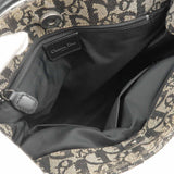 Christian Dior Trotter Canvas Leather Tote Bag Black White