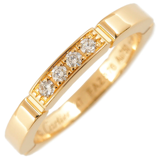 Cartier maillon panthère Ring 4P Diamond Yellow Gold #47 US4-4.5
