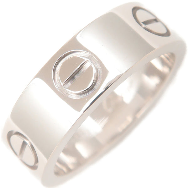 Cartier Love Ring 18K White Gold #48 US4.5 HK9.5 EU48