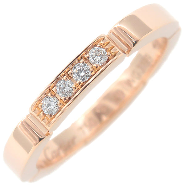 Cartier maillon panthère Ring 4P Diamond Rose Gold #49 US5 EU49