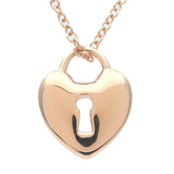 Tiffany&Co. Heart Lock Necklace K18PG Rose Gold
