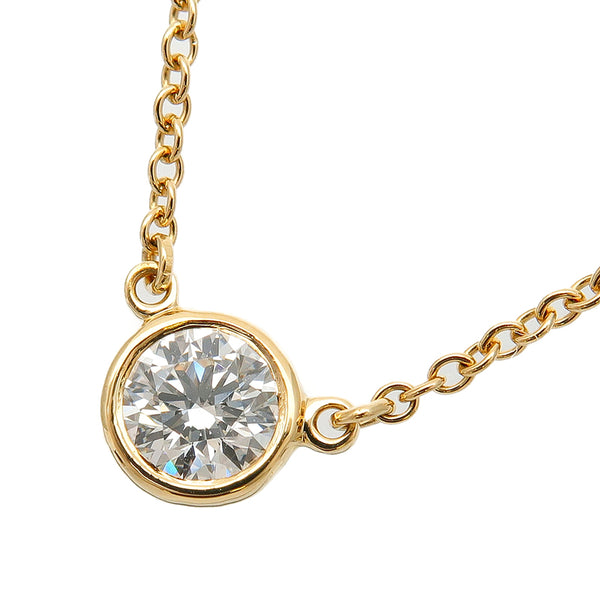 Tiffany&Co. By the Yard 1P Diamond Necklace 0.2ct Yellow Gold