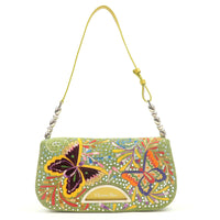 Christian-Dior-Maris-Pearl-Canvas-Enamel-Embroidery-Shoulder-Bag