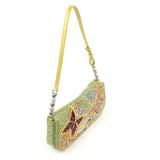 Christian Dior Maris Pearl Canvas Enamel Embroidery Shoulder Bag