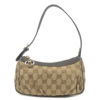 GUCCI-Lovely-GG-Canvas-Leather-Hand-Bag-Beige-Brown-245938