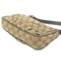 GUCCI Lovely GG Canvas Leather Hand Bag Beige Brown 245938