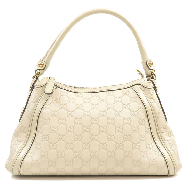GUCCI-Guccissima-Leather-Shoulder-Bag-Ivory-282298