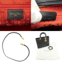 Christian Dior Cannage Lady Leather 2Way Bag Shoulder Bag