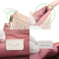 Christian Dior Trotter Canvas Leather Pouch Pink