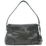 CELINE-Leather-Shoulder-Bag-Black
