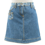 Louis-Vuitton-Monogram-Denim-Skirt-Size-36-Blue