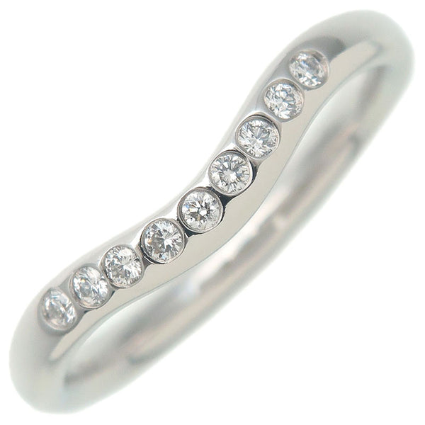 Tiffany&Co.-Curved-Band-Ring-9P-Diamond-950-Platinum-US4.5