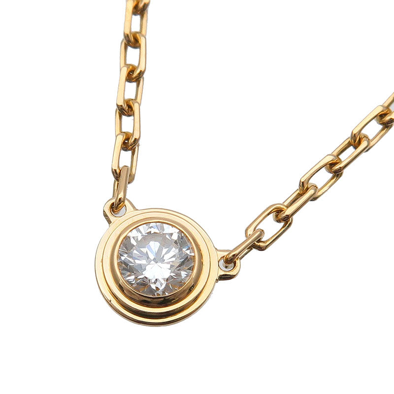 Cartier-Diamants-Légers-Necklace-SM-1P-Diamond-0.09ct-Yellow-Gold